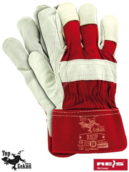 430bc59ab235fa Rękawice robocze wzmacniane skórą licową RHIP rozmiar 10 - Odzież ...