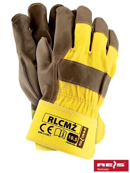 b5780d3538e95a promocja! Rękawice robocze wzmacniane skórą licową RLCMŻ rozmiar 10 ...