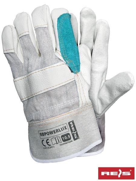 8d5522466a806a Rękawice robocze wzmacniane skórą licową RBPOWERLUX - Odzież robocza ...